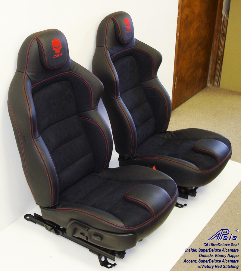 C6 UltraDeluxe Seat-EB+SA w-red stitching-pair-3