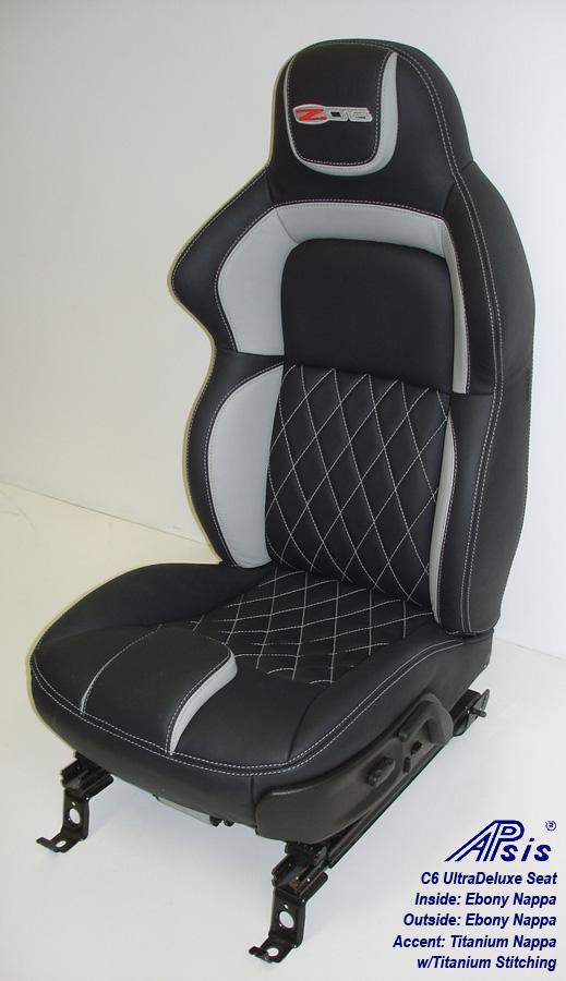 C6 UltraDeluxe Seat-EB+TI w-diamond stitching-individual-side view-2a