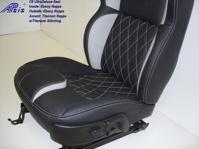 C6 UltraDeluxe Seat-EB+TI w-diamond stitching-lower only-side view-2