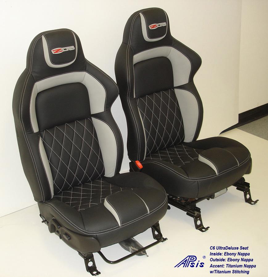 C6 UltraDeluxe Seat-EB+TI w-diamond stitching-pair-side view-1