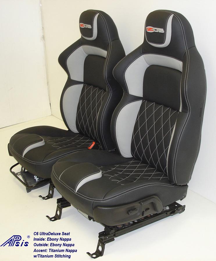 C6 UltraDeluxe Seat-EB+TI w-diamond stitching-pair-side view-2