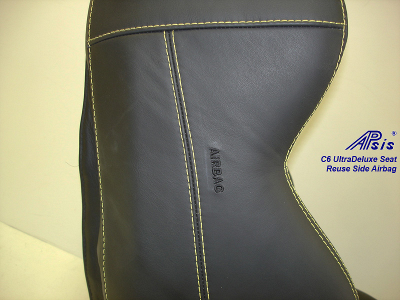C6 UltraDeluxe Seat-finished-individual-close shot show airbag-1