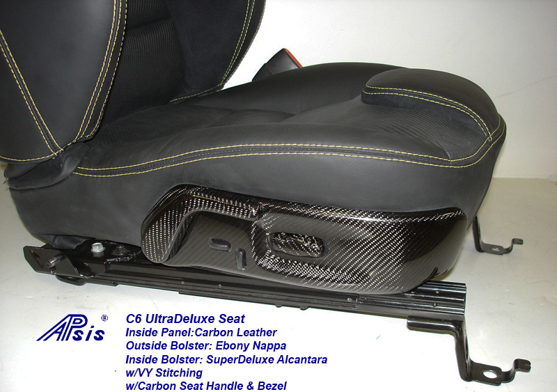 C6 UltraDeluxe Seat-finished-individual-close shot show carbon bezel-1