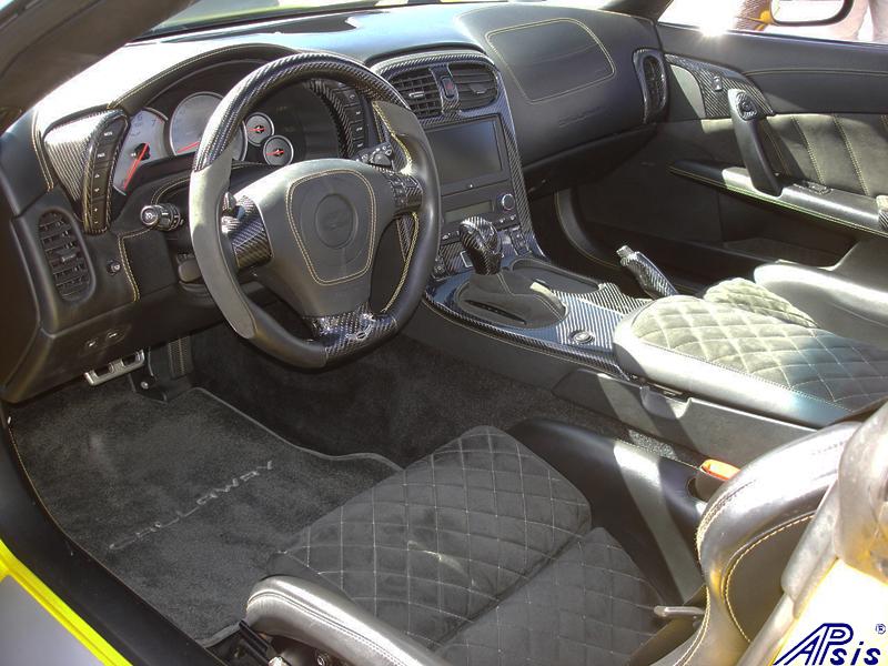 C6 Whole Interior-CF+EB+AL w-VY stitching-harolds car-2a