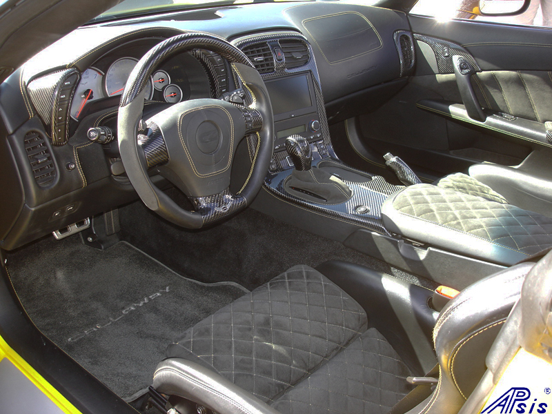 C6 Whole Interior-CF+EB+AL w-VY stitching-harolds car-2a