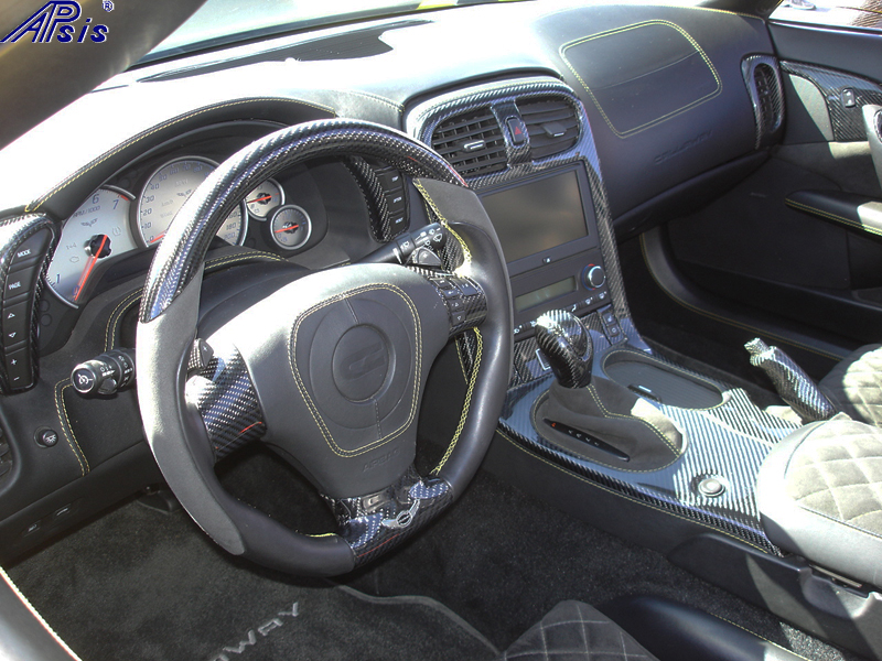 C6 Whole Interior-CF+EB+AL w-VY stitching-harolds car-9 sw