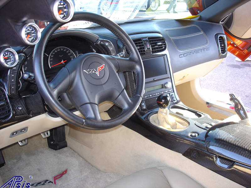C6 Whole Interior-CF+EB+CA-modified corvette-6 driver view