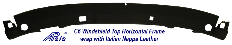 C6 Windshield Top Horizontal Frame in Italian Nappa Leather -1