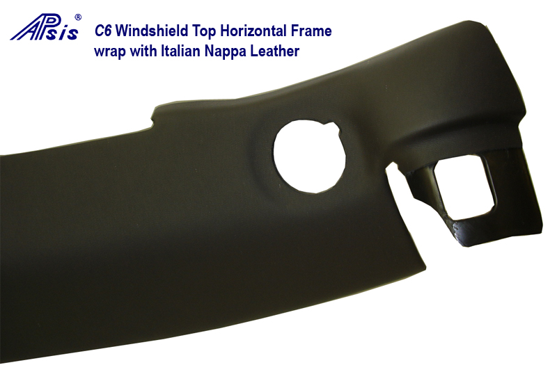 C6 Windshield Top Horizontal Frame in Italian Nappa Leather Close Shot -1