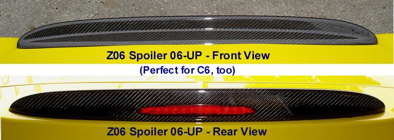 C6 Z06 Black CF-Spoiler-front & rear view-768