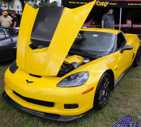 C6 ZR1 Replica CF Splitter+Side Skirt-installed on vy z06-spoiled996-3