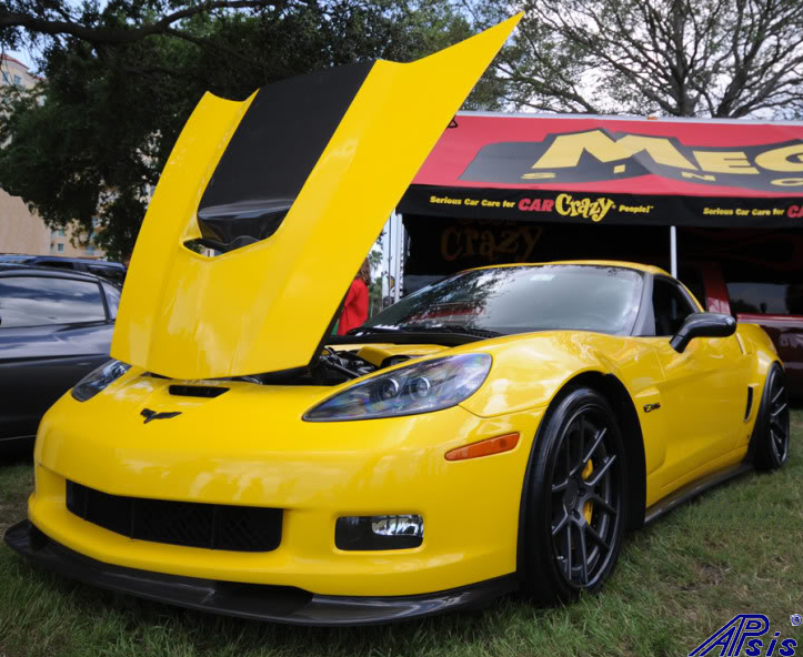 C6 ZR1 Replica CF Splitter+Side Skirt-installed on vy z06-spoiled996-4