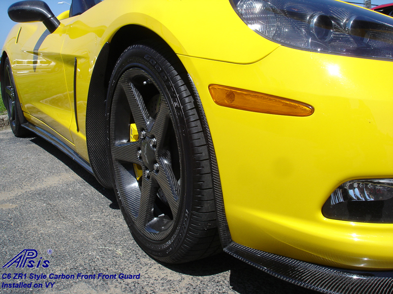 C6 ZR1 Style Front Front Guard-CF-installed-1