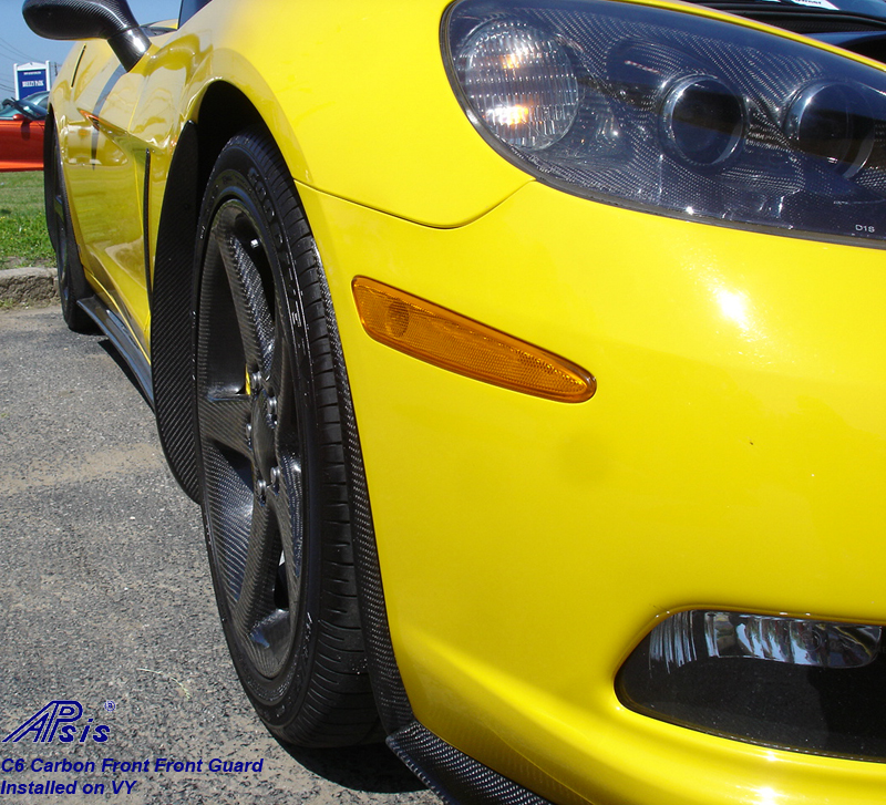 C6 ZR1 Style Front Front Guard-CF-installed-2