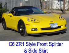 C6 ZR1 Style Front Splitter & Side Skirt 225x173 -