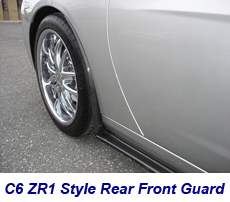 C6 ZR1 Style Rear Front Guard-CF-installed on ms-1 230
