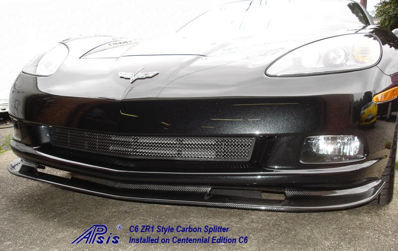 C6 ZR1 Style Splitter-CF-installed on centennial c6-3