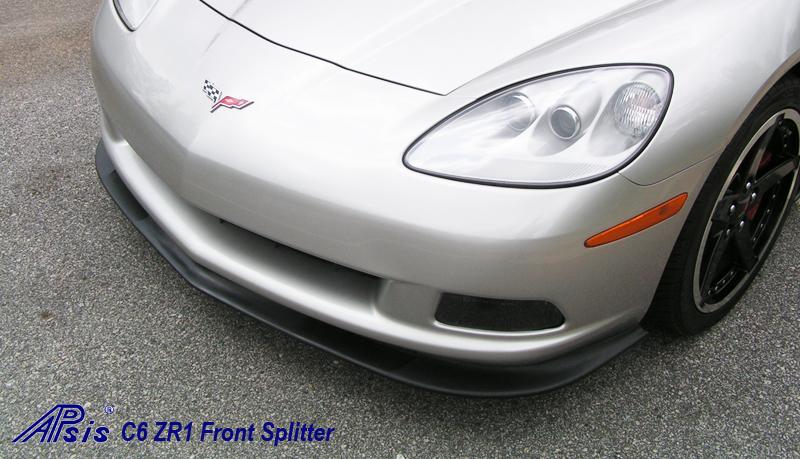 C6 ZR1 Style Splitter & Side Skirt installed on Silver Car - 4