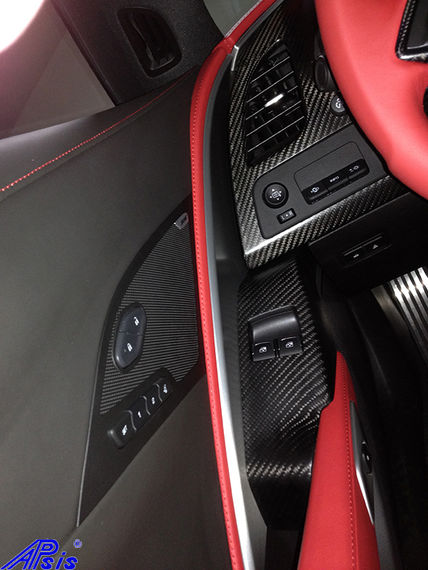 C7 Driver Power Window Bezel-matte-installed-from anthony sokol-1
