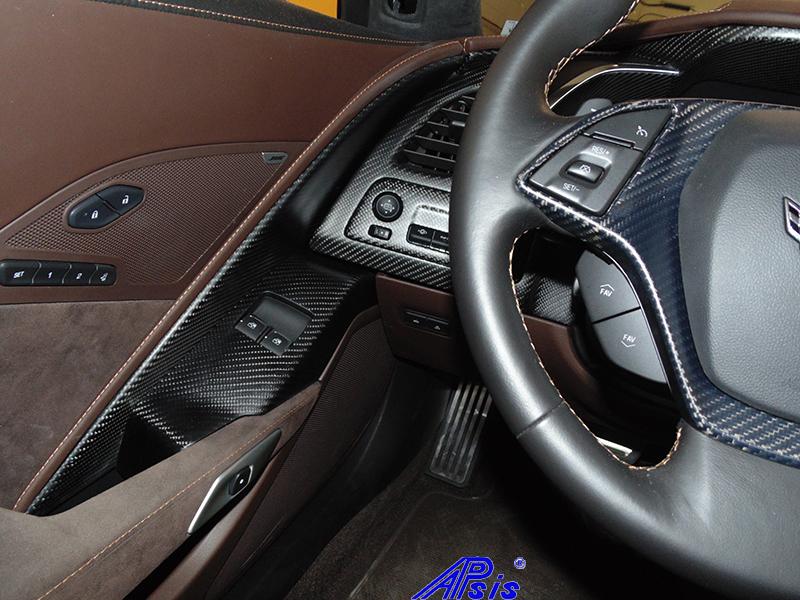 C7 Driver Power Window Bezel-matte-installed on jerseys car-2