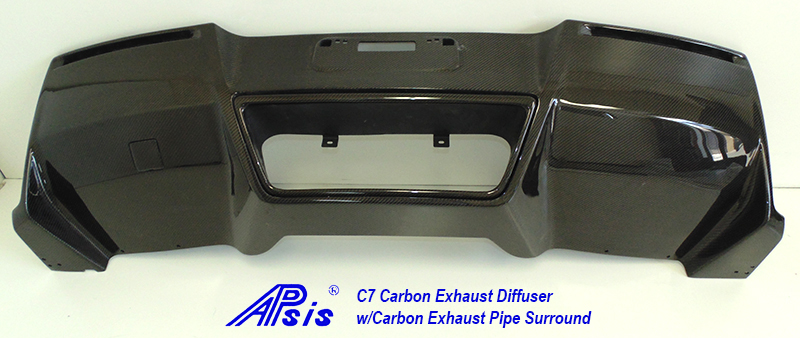 C7 Exhaust Diffuser w-carbon exhaust surround pc-2