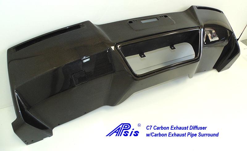 C7 Exhaust Diffuser w-carbon exhaust surround pc-4