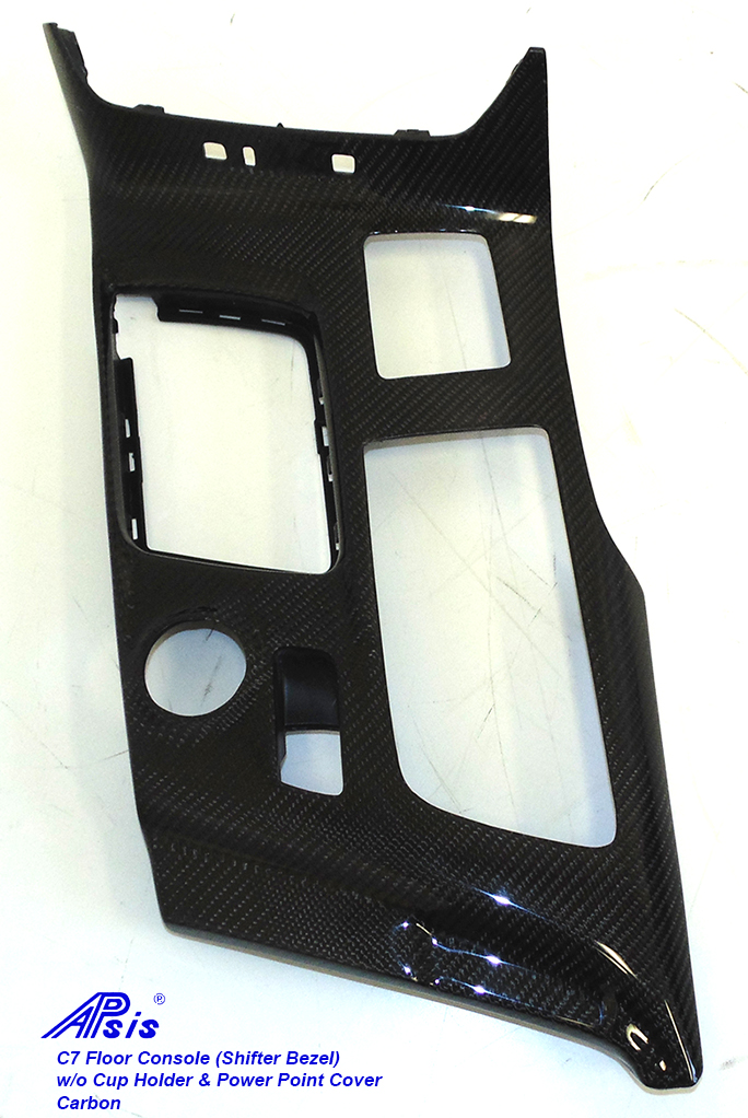 C7 Floor Console (Shifter Bezel)-CF-individual- 10 w-o cup holder