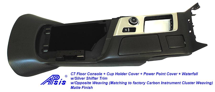 C7 Floor Console+Waterfall-matte w-opposite weaving-2