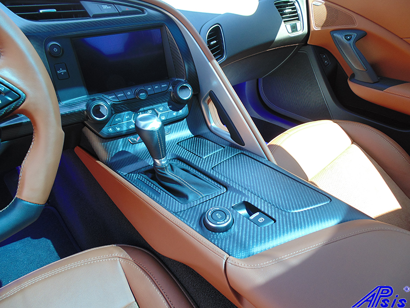 C7 Floor Console-matte finish-installed on scotts car-1