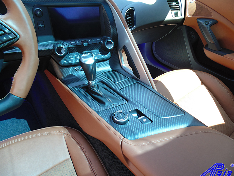 C7 Floor Console-matte finish-installed on scotts car-3