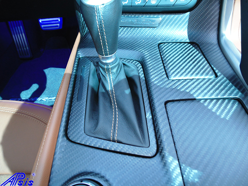 C7 Floor Console-matte finish-installed on scotts car-6