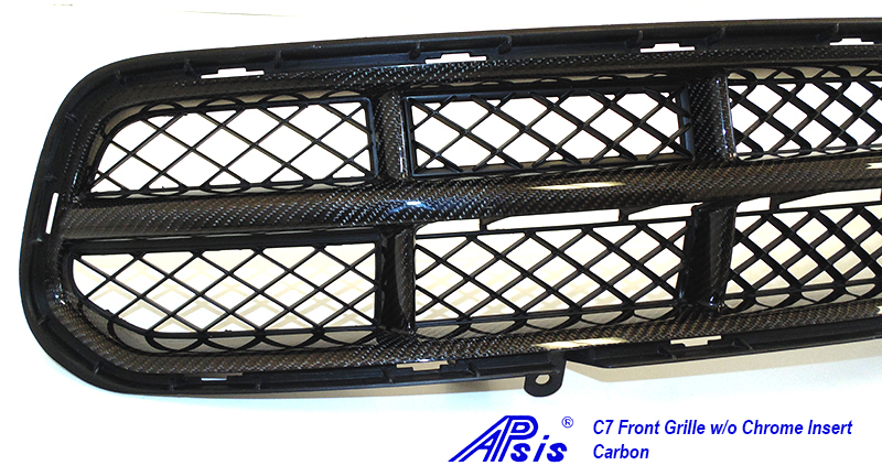 C7 Front Grille w-o chrome-individual-close shot-2
