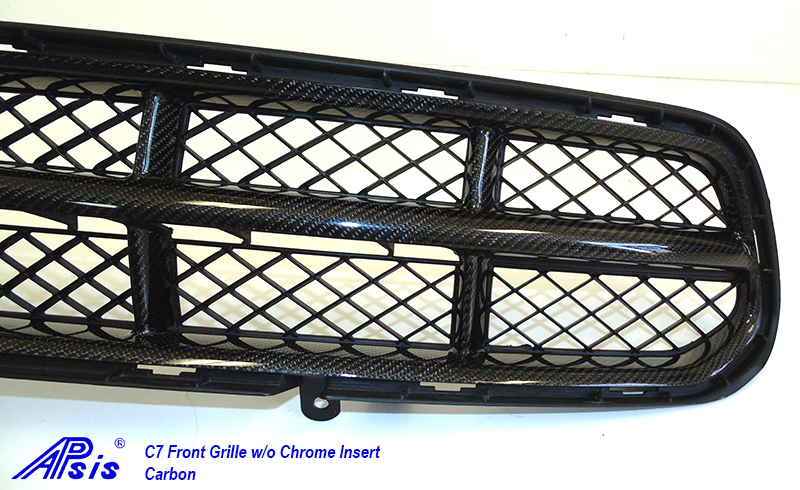 C7 Front Grille w-o chrome-individual-close shot-3