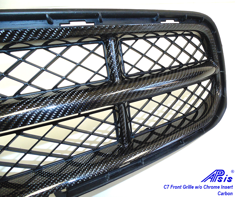 C7 Front Grille w-o chrome-individual-close shot-5