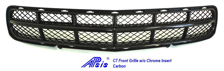 C7 Front Grille w-o chrome-individual-full view-1