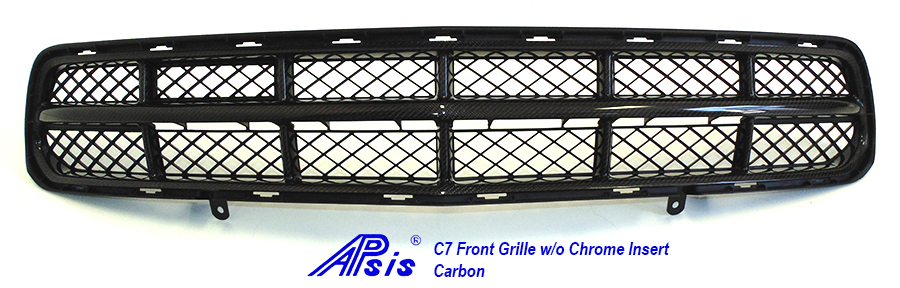 C7 Front Grille w-o chrome-individual-full view-2