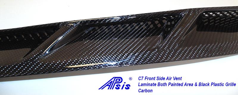 C7 Front Side Air Vent-laminate whole pc-12 close shot