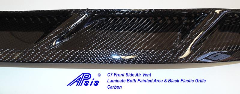 C7 Front Side Air Vent-laminate whole pc-4 close shot