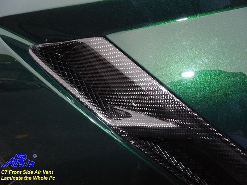 C7 Front Side Air Vent-laminate whole pc-installed-driver-10 close shot