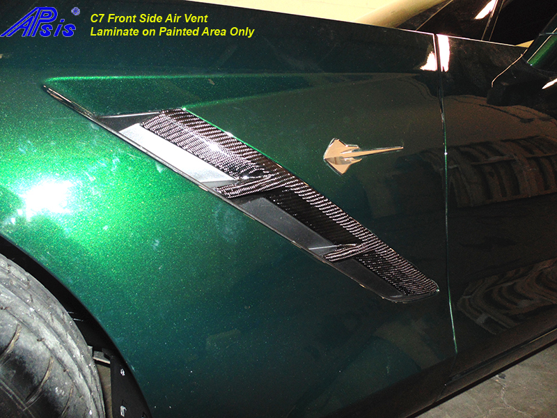 C7 Front Side Air Vent-laminated on painted area only-driver-installed-2