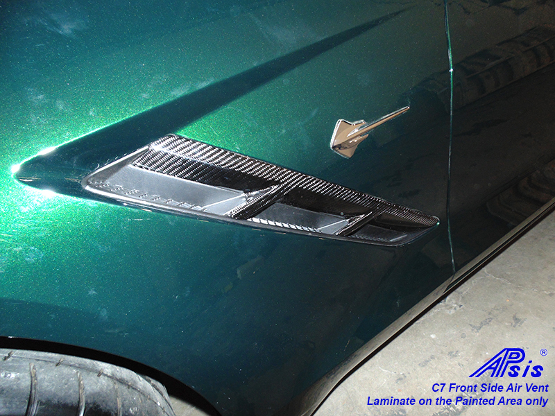 C7 Front Side Air Vent-laminated on painted area only-driver-installed-7