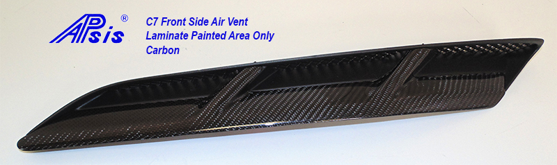 C7 Front Side Air Vent-laminated painted area only-1
