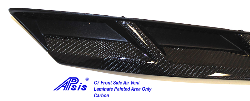 C7 Front Side Air Vent-laminated painted area only-close shot-1
