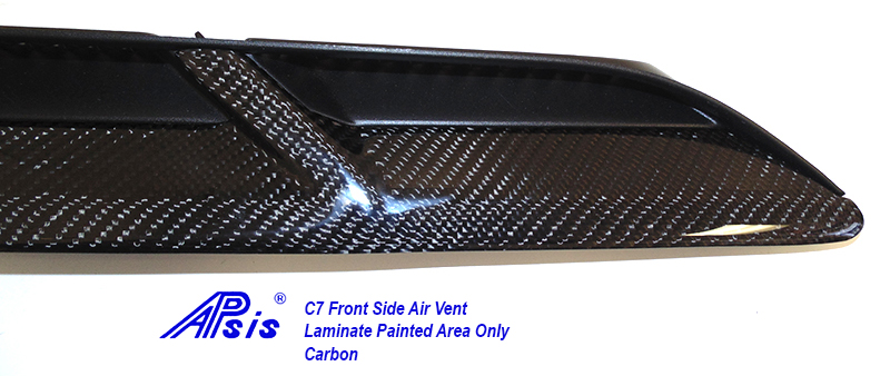C7 Front Side Air Vent-laminated painted area only-close shot-3