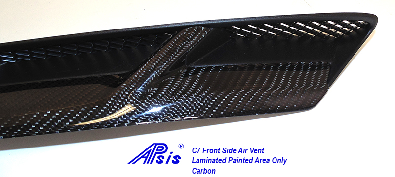 C7 Front Side Air Vent-laminated painted area only-close shot-4