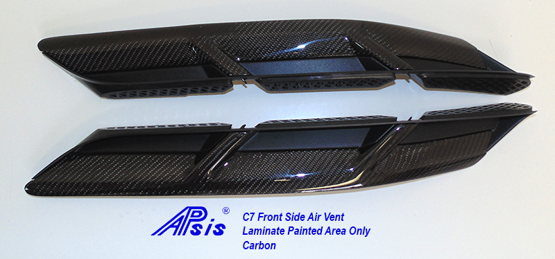 C7 Front Side Air Vent-laminated painted area only- pair-2