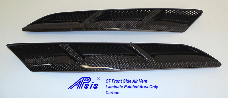 C7 Front Side Air Vent-laminated painted area only- pair-3