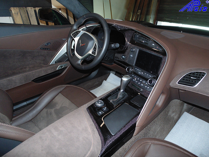 C7 Instrument Cluster + Floor Console-high gloss-installed-1
