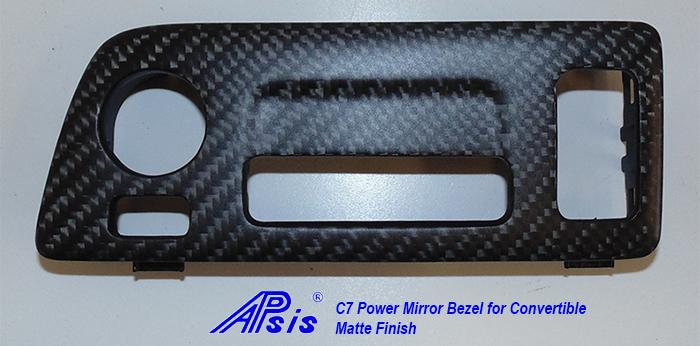 C7 Power Mirror Bezel for Convertible-matte-individual-1