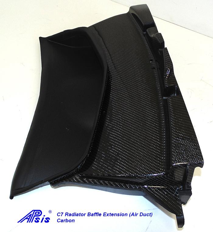 C7 Radiator Baffle Extension-CF-individual-4